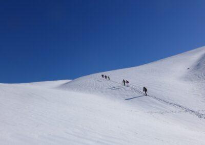 Raquettes à neige pour le réveillon, alpages de Lus la Croix-Haute