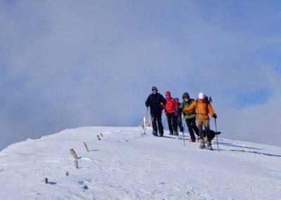 Raquettes à neige pour le réveillon, au-dessus du Trièves
